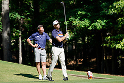 Former Auburn pitcher Tim Hudson tees off during the Chick-fil-A Peach Bowl Challenge at the Ritz Carlton Reynolds, Lake Oconee, on Tuesday, April 30, 2019, in Greensboro, GA. (Paul Abell via Abell Images for Chick-fil-A Peach Bowl Challenge)