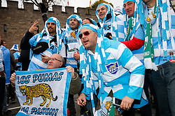 Argentina fans gather in the streets outside the stadium - Mandatory byline: Rogan Thomson/JMP - 07966 386802 - 18/10/2015 - RUGBY UNION - Millennium Stadium - Cardiff, Wales - Ireland v Argentina - Rugby World Cup 2015 Quarter Finals.