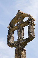 15th century Hosanna cross at the entrance to the hamlet of Sergeac ..., Travel, lifestyle