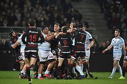 March 25, 2018 - Lyon - Stade De Gerland, France - Baptiste couilloud et ses coequipiers (lou) vs Census Johnston et ses coequipiers  (Credit Image: © Panoramic via ZUMA Press)