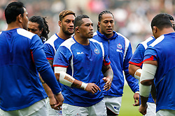 Samoa replacement Anthony Perenise warms up - Mandatory byline: Rogan Thomson/JMP - 07966 386802 - 03/10/2015 - RUGBY UNION - Stadium:mk - Milton Keynes, England - Samoa v Japan - Rugby World Cup 2015 Pool B.