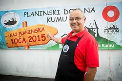 Oskrbnik Roman Ledinek, Planinski dom na Kumu - Naj planinska koca 2015, on September 13, 2015, Kum, Slovenia. Photo by Vid Ponikvar / Sportida