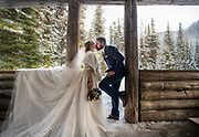 Breanna & Wesley Liebault, wedding at Manning Park in Canada. February 2, 2019.