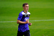 Jordan Tillson (6) of Exeter City warming up before the EFL Sky Bet League 2 match between Exeter City and Lincoln City at St James' Park, Exeter, England on 19 August 2017. Photo by Graham Hunt.
