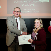 18.05.2016<br /> Limerick Institute of Technology (LIT) hosted a celebration of community and voluntary engagement in the LIT Millennium Theatre for the GO4IT & Give Graduation ceremony.<br /> <br /> Acting President LIT, Terry Toomey presented a Give certificate to Aisling Enright. Picture: Alan Place/Fusionshooters