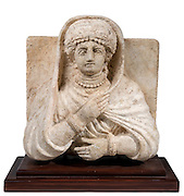 A Palmyrene stone bust of a woman Roman period 1-2 century CE