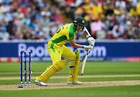 Cricket - 2019 ICC Cricket World Cup - Semi-Final: England vs. Australia<br /> <br /> Australia's Jason Behrendorff  clean bowled by England's Mark Wood, at Edgbaston, Birmingham.<br /> <br /> COLORSPORT/ASHLEY WESTERN