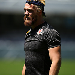 DURBAN, SOUTH AFRICA - MARCH 10: Willem Britz (captain) of the HITO-Communications Sunwolves during the Super Rugby match between Cell C Sharks and Sunwolves at Jonsson Kings Park Stadium on March 10, 2018 in Durban, South Africa. (Photo by Steve Haag/Gallo Images)