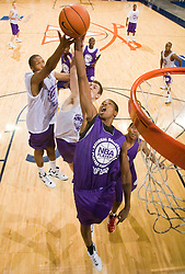 P/WF Tristan Thompson (Newark, NJ / St. Benedict's) grabs a rebound.  The NBA Player's Association held their annual Top 100 basketball camp at the John Paul Jones Arena on the Grounds of the University of Virginia in Charlottesville, VA on June 20, 2008