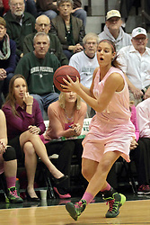 08 February 2014:  Emily Beoletto during an NCAA women's division 3 CCIW basketball game between the Elmhurst Bluejays and the Illinois Wesleyan Titans in Shirk Center, Bloomington IL