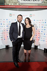 LIVERPOOL, ENGLAND - Tuesday, May 19, 2015: Guests arrive on the red carpet for the Liverpool FC Players' Awards Dinner 2015 at the Liverpool Arena. (Pic by David Rawcliffe/Propaganda)