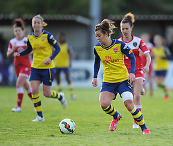 Former academy player, Jemma Rose in action for Arsenal Ladies - Photo mandatory by-line: Paul Knight/JMP - Mobile: 07966 386802 - 09/05/2015 - SPORT - Football - Bristol - Stoke Gifford Stadium - Bristol Academy Women v Arsenal Ladies FC - FA Women's Super League