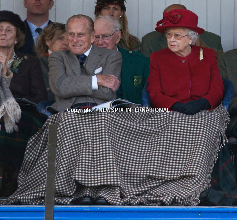 05.09.2015; Braemar, Scotland: QUEEN WINS BLANKET TUSSLE<br />