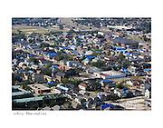 11/8/05:  Blue roof city.