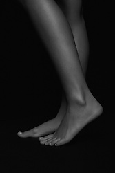 Side View of a Woman Legs and Feet, Low Section
