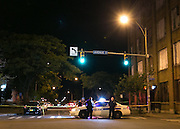 Rochester Police Officers block traffic after a shooting on Hudson Avenue in Rochester, New York on Wednesday, September 3, 2014. Police Chief Michael Ciminelli confirmed that a Rochester Police Officer was fatally shot around 9:30 p.m. Officer Daryl Pierson, 32, was shot and killed. In May 2015, Thomas Johnson III was convicted of aggravated murder of a police officer.