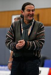 21-12-2013 VOLLEYBAL: BEKER ZAANSTAD - PRINS VCV: ZAANSTAD<br /> Ivo Martinovic, coach Prins VCV geniet zichtbaar<br /> &copy;2013-FotoHoogendoorn.nl / Pim Waslander