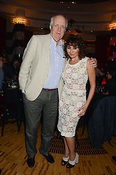 SIR TIM RICE and FRANCES RUFFELLE at a private performance by Frances Ruffelle entitled 'Paris Original' at The Crazy Coqs, Brasserie Zedel, 20 Sherwood Street, London on 8th October 2013.