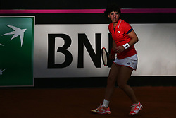 February 11, 2018 - Chieti, CH, Italy - Carla Suarez Navarro of Spain team during 2018 Fed Cup BNP Paribas World Group II First Round match between Italy and Spain at Pala Tricalle ''Sandro Leombroni'' on February 11, 2018 in Chieti, Italy. (Credit Image: © Danilo Di Giovanni/NurPhoto via ZUMA Press)
