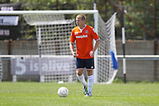 Luton Town Scott Griffith during the Pre-Season Friendly match between Peacehaven & Telscombe and Luton Town at the Peacehaven Football Club, Peacehaven, United Kingdom on 18 July 2015. Photo by Phil Duncan.