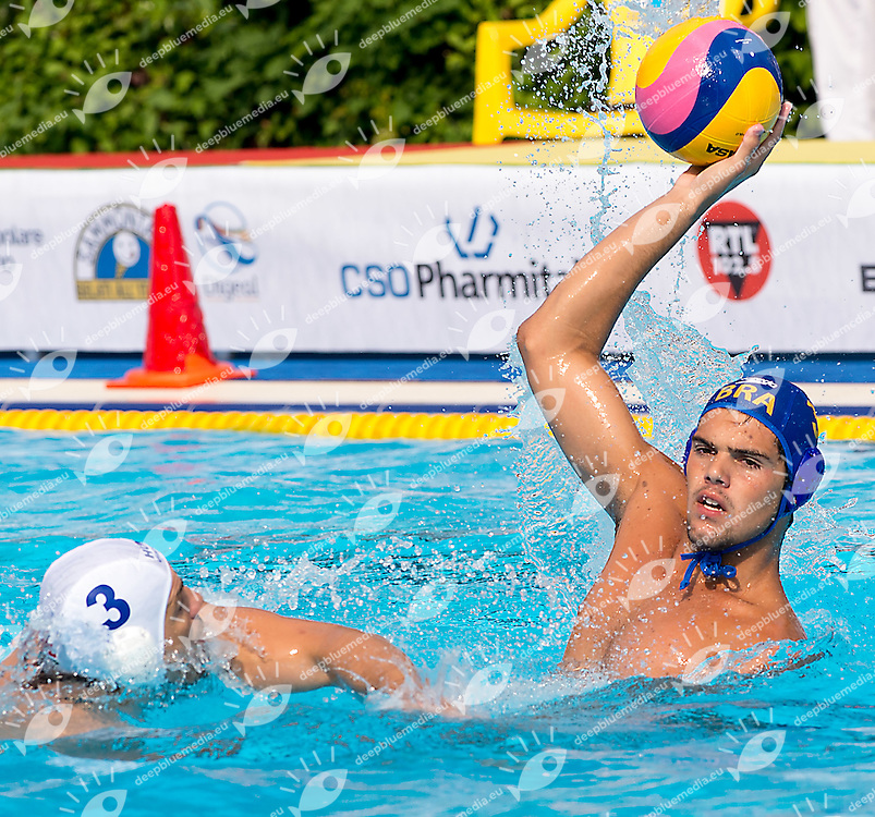 3 MADARAS Norbert HUN 5 SALEMI Paulo BRA<br /> Hungary HUN (white) - Brazil BRA  (blue)<br /> day 03 - 25/06/2015<br /> FINA Water Polo World League Superfinal Men<br /> Bergamo (ITA) 23-28 June 2015<br /> Photo G.Scala/Deepbluemedia