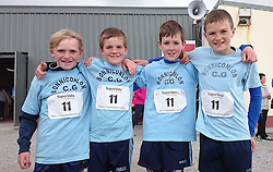 Bunniconlon Boys U12 Relay winners at Mayo Community Games from left Patrick Greavey Brian O'Malley James Harrington and Cathal Kelly.<br />
