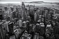 Core of Downtown San Francisco (monochrome)