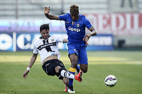 Pedro Mendes e Kingsley Coman<br /> Parma 11-04-2015 Stadio Tardini, Football Calcio Serie A Parma - Juventus Foto Image Sport / Insidefoto