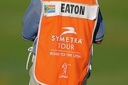 Detail of Melissa Eaton caddies' bib during the first round of the e Symetra Tour's Volvik Championship on the Plamer Course at Reunion Resort on Sept. 20, 2013 in Kissimmee, Florida. <br /> <br /> <br /> ©2013 Scott A. Miller