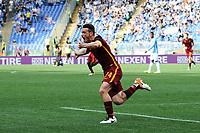 Esultanza Gol Alessandro Florenzi Roma Goal celebration 1-3<br /> Roma 03-04-2016 Stadio Olimpico Football Calcio Serie A 2015/2016 Lazio - AS Roma Foto Andrea Staccioli / Insidefoto