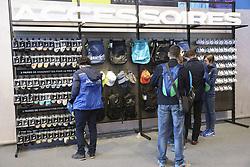 April 6, 2018 - Paris, France - Stand Asics accessoires (Credit Image: © Panoramic via ZUMA Press)