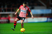 Exeter City's Arron Davies during the Sky Bet League 2 match between Exeter City and Luton Town at St James' Park, Exeter, England on 19 December 2015. Photo by Graham Hunt.