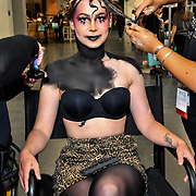 Treasure house of makeup demo at IMATS London on 18 May 2019,  London, UK.