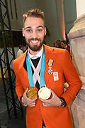 Officiele huldiging van de Olympische en Paralympische medaillewinnaars in de Grote Kerk of St. Jacobskerk, Den Haag.<br /> <br /> op de foto:  Kjeld Nuis