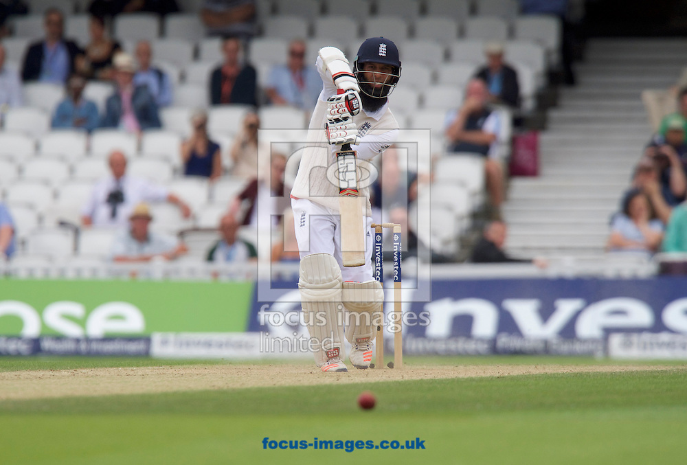 Moeen Ali of England batting during Day Four of the fourth Investec Test Match at the Kia Oval, London<br /> Picture by Alan Stanford/Focus Images Ltd +44 7915 056117<br /> 14/08/2016