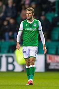 Christian Doidge (#9) of Hibernian FC during the William Hill Scottish Cup fourth round match between Hibernian FC and Dundee United FC at Easter Road Stadium, Edinburgh, Scotland on 28 January 2020.