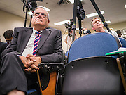 17 JULY 2012 - PHOENIX, AZ: Maricopa County Sheriff JOE ARPAIO at his announcement that President Obama's birth certificate is not authentic. Arpaio said his investigation proves that the long form birth certificate President Barrack Obama has used to prove his citizenship is a fraud. He also said that Hawaii's lax standards for getting a birth certificate may pose a serious flaw to the United States' national security. PHOTO BY JACK KURTZ