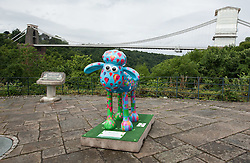 © Licensed to London News Pictures. 06/07/2015. Bristol, UK.  SHAUN THE SHEEP, 'Baa-lloon!' designed by Jenny Urquhart.  The Shaun in the City trail starts today with 70 5ft tall Shaun the Sheep sculptures originally devised by Aardman Animations with these sculptures decorated by various artists.  The Shaun trail happened in London in the spring, and the Bristol Trail lasts till 31 August.  At the end of September all 120 Shaun sculptures will be viewable together in Covent Garden.  All sculptures will then go to auction on 8th October, with proceeds from the Bristol sculptures benefitting The Grand Appeal which funds pioneering medical equipment, facilities, and comforts for patients at Bristol Children's Hospital. Proceeds from the London sculptures will benefit Wallace & Gromit's Children's Charity supporting children's hospitals and hospices throughout the UK. Photo credit : Simon Chapman/LNP