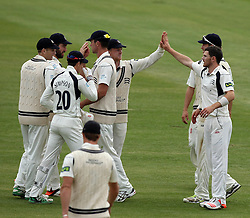 Middlesex celebrate Middlesex's James Harris' wicket of Durham's Usman Arshad - Photo mandatory by-line: Robbie Stephenson/JMP - Mobile: 07966 386802 - 04/05/2015 - SPORT - Football - London - Lords  - Middlesex CCC v Durham CCC - County Championship Division One