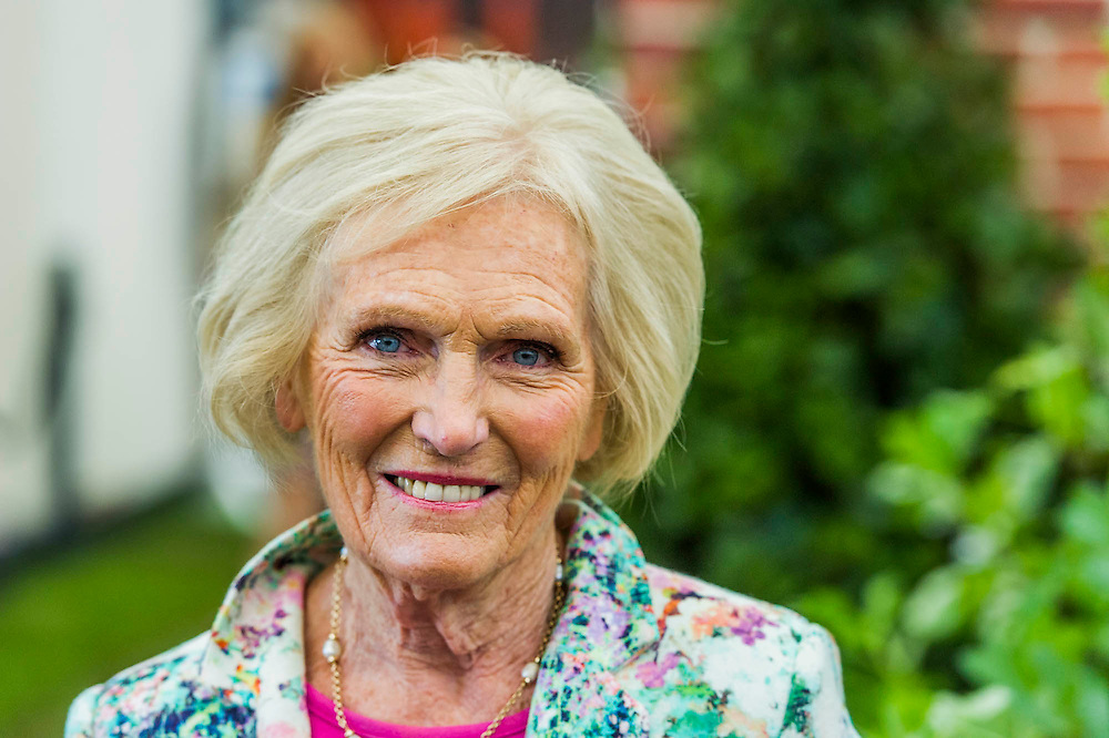 Mary Berry - RHS Chelsea Flower Show, Chelsea Hospital, London UK, 18 May 2015.