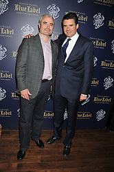 Left to right, SIMON EIDES and EDWARD TAYLOR at the launch of the Johnnie Walker Blue Label Club held at The Scotch, Mason's Yard, London on 1st May 2012.