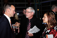 (from left) DDC President & CEO Jeff Hoagland, Chris Meyer of Green Tech Advisors and Kimberly A. Gibson during the Dayton Development Coalition annual meeting in the Schuster Center in downtown Dayton, Wednesday, January 11, 2012.