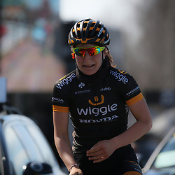 05-04-2015: Wielrennen: Ronde van Vlaanderen vrouwen: BelgieOUDENAARDE (BEL) cyclingThe 3th race in the UCI womens World Cup is the 12th edition of the Ronde van Vlaanderen. The race distance is 145 km with 12 Climbs and 5 zones of Cobbles.  After a solo of almost 30 km Italian rider Elisa Longo Borghini wins the race. 2nd Jolien D'Hoore (Bel) and 3th Anna van der Breggen (Ned)