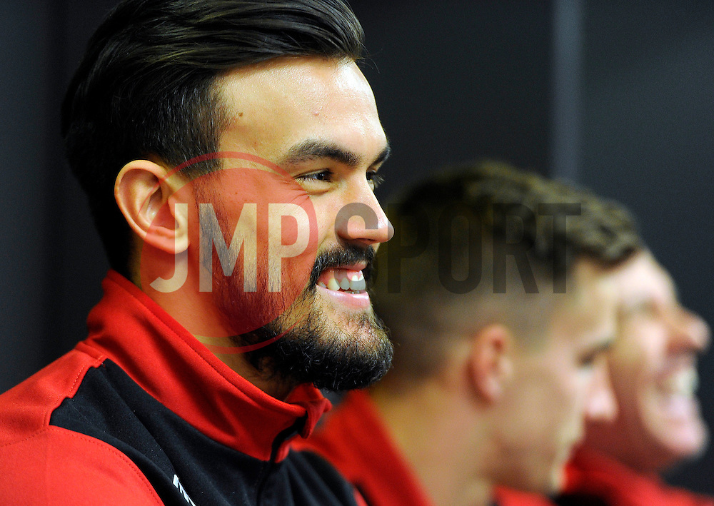 Bristol City's Marlon Pack in the East dressing room at Wembley Stadium   - Photo mandatory by-line: Joe Meredith/JMP - Mobile: 07966 386802 - 19/03/2015 - SPORT - Football - London - Wembley - Johnstone Paint Trophy
