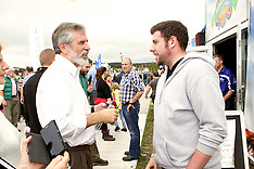 Gerry Adams TD at The National Ploughing Championships 2014
