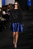 Aymeline Valade walks down runway for F2012 Prabal Gurung's collection in Mercedes Benz fashion week in New York on Feb 10, 2012 NYC