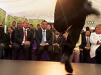 17/05/2015 .  AN Taoiseach Enda Kenny TD  , H.E. Mr Li Premier of the State Council,  People's Republic of China     watching  Trad on the Prom. Photo: Andrews Downes XPOSURE