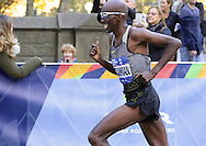 November 6, 2016 - New York, New York, U.S - Somali-born American runner ABDI ABDIRAHMAN, age 39, competes in the New York City Marathon. He would finish 3rd in the men's division, in a time of 2:11:23. (Credit Image: © Staton Rabin via ZUMA Wire)