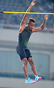 Raphael Holzdeppe (GER) places seventh in the pole vault at 18-4 3/4 (5.61m) during the IAAF Diamond League Shanghai 2018 in Shanghai, China, Saturday, May 12, 2018. (Jiro Mochizukii/Image of Sport)