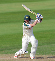 Nottinghamshire's Riki Wessels cuts the ball. - Photo mandatory by-line: Harry Trump/JMP - Mobile: 07966 386802 - 14/06/15 - SPORT - CRICKET - LVCC County Championship - Division One - Day One - Somerset v Nottinghamshire - The County Ground, Taunton, England.